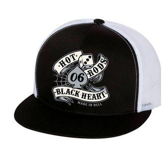 cap BLACK HEART - LOLA - WHITE, BLACK HEART