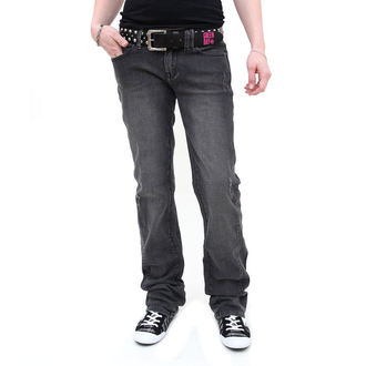 pants women (jeans) CIRCA - Engineered Straight Jean - BLACK