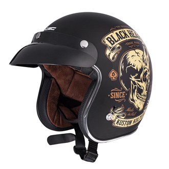 Helmet BLACK HEART - DEVIL SKULL - BLACK, BLACK HEART