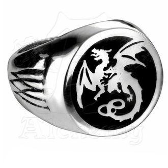 ring Wyverex Dragon Signet Ringl ALCHEMY GOTHIC - R154