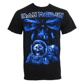 t-shirt metal men's Iron Maiden - Blue Album Spaceman - ROCK OFF - IMTEE14MB