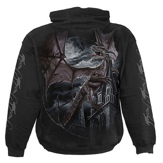 hoodie men's - Black - SPIRAL - L006M451
