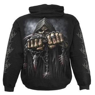 hoodie men's - Black - SPIRAL - T026M451
