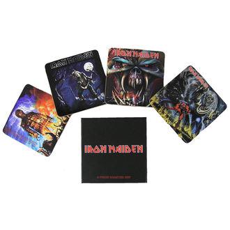 beer coasters Iron Maiden - Iron Maiden coaster set - ROCK OFF, ROCK OFF, Iron Maiden