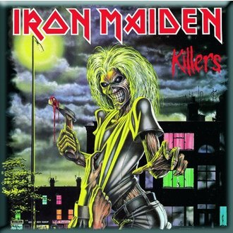 magnet Iron Maiden - Killers Fridge Magnet - ROCK OFF, ROCK OFF, Iron Maiden