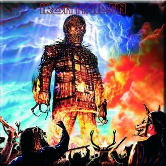 magnet Iron Maiden - Wicker Man Fridge Magnet - ROCK OFF, ROCK OFF, Iron Maiden