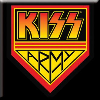 magnet Kiss - Metal Magnet Square Kiss Army - ROCK OFF, ROCK OFF, Kiss