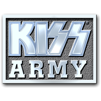 pin badge Kiss - Army Block pin badge - ROCK OFF, ROCK OFF, Kiss
