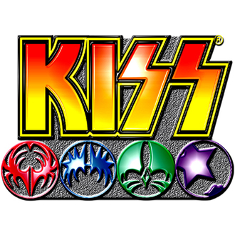 pin badge Kiss - Logo Icons pin badge - ROCK OFF, ROCK OFF, Kiss