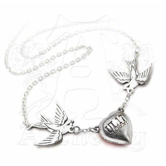 necklace Swallow Heart Pendant - ALCHEMY GOTHIC - ULFP1