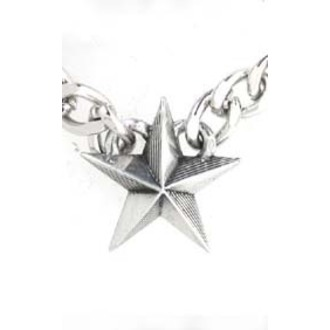 necklace Nautical Star Cuban Pendant - ALCHEMY GOTHIC, ALCHEMY GOTHIC
