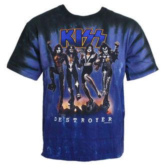 Metal T-Shirt men's Kiss - Destroyer - LIQUID BLUE - 11907