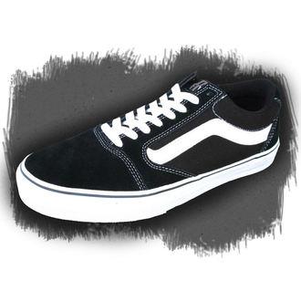 low sneakers men's - VANS - BLACK-WHITE
