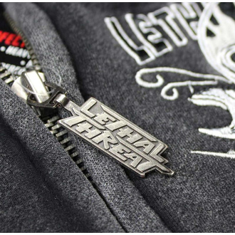 hoodie men's - FASTER SKULL - LETHAL THREAT - HD84037