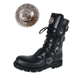 boots leather - Flat Classic Boot (1473-S1) Black - NEW ROCK - M.1473-S1