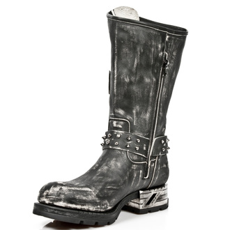 leather boots women's - VINTAGE RASPADO MOTOROCK T.ACERO - NEW ROCK, NEW ROCK
