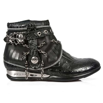 leather boots women's - VINTAGE FLOWER ROCK BOX PLANE - NEW ROCK, NEW ROCK
