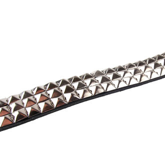 belt PYRAMIDS 3 - PAS, BLACK & METAL