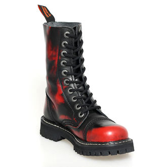 leather boots - KMM - Red/Black-100