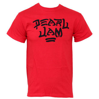 t-shirt metal men's Pearl Jam - Logo Red - LIVE NATION, LIVE NATION, Pearl Jam