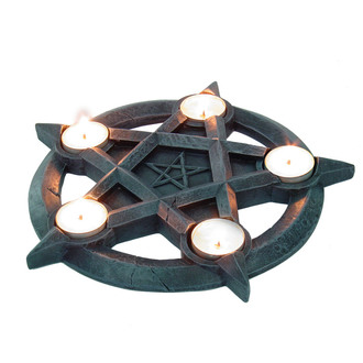 candlestick (decoration) Pentagram Tealights - NEM2273