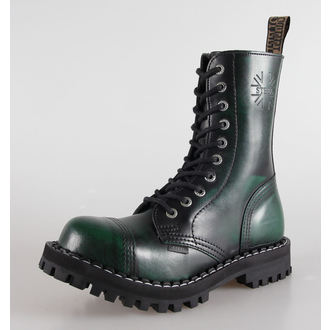 leather boots women's - STEEL - (105/106 Green)