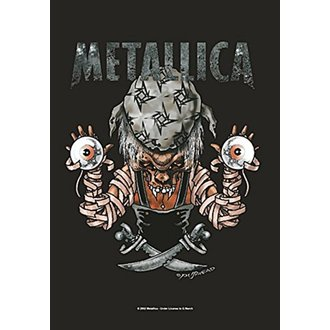 Flag Metallica - Pirate, HEART ROCK, Metallica