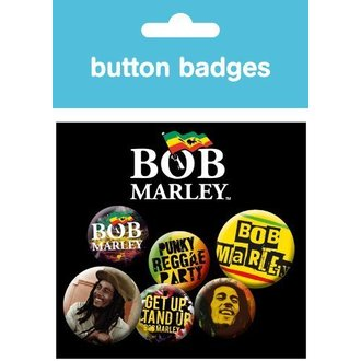 badges Bob Marley - She Love - BP0313, GB posters, Bob Marley