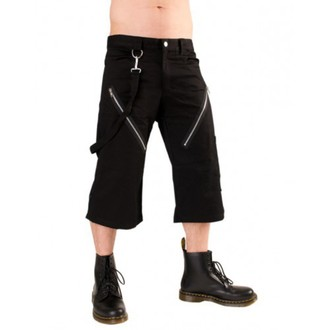 shorts 3/4 men Black Pistol - Zipper Short Pants Denim Black - B-1-45-101-00