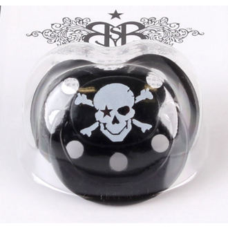 pacifier silicone ROCK STAR BABY - Pirate Black, ROCK STAR BABY