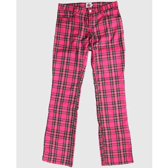 pants Black Pistol - Hipster Tartan Pink, BLACK PISTOL