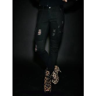 pants women IRON FIST - Kiss Of Death - Cargos Black