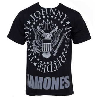 t-shirt metal Ramones - Hey Ho Lets Go - LIQUID BLUE - 31966