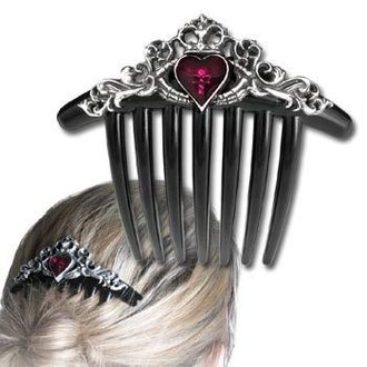 comb (clip) to hair Claddagh Comb - ALCHEMY GOTHIC - HC3