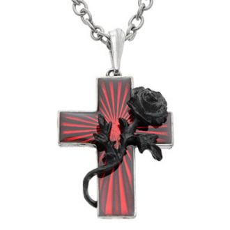 necklace Order Of The Black Rose - ALCHEMY GOTHIC, ALCHEMY GOTHIC