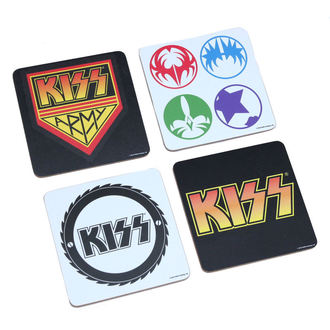 beer coasters Kiss - A Piece Coaster Set, ROCK OFF, Kiss
