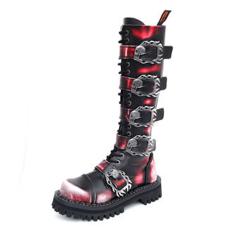 boots KMM 20 eyelets - Big Skulls Black Red White Monster 5P, KMM