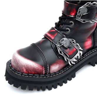 leather boots - KMM - Red/Black-205