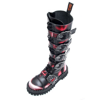 leather boots unisex - KMM - Red/Black-205
