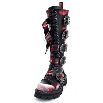 boots KMM 20 eyelets - Big Skulls Black Red White Monster 5P - 205