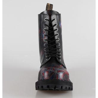 leather boots women's - STEEL - 105/106 Uk Black