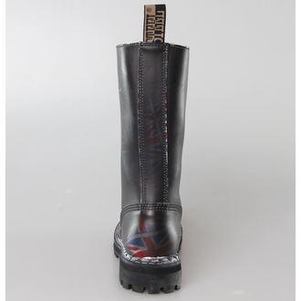 leather boots women's - STEEL - (135/136 UK Black )