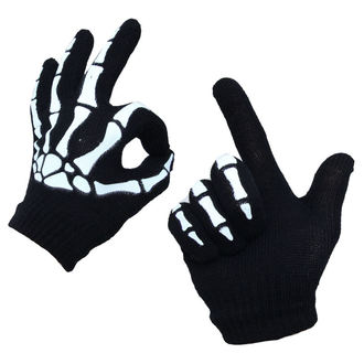 gloves POIZEN INDUSTRIES - BGG - Black/Wht