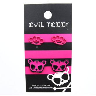 earrings POIZEN INUDSTRIES - ETES1 Teddy Knuckleduster Set, EVIL TEDDY