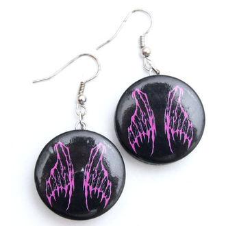earrings POIZEN INDUSTRIES - EFBE2 Fairy Wing Disc, EVIL FAIRYS