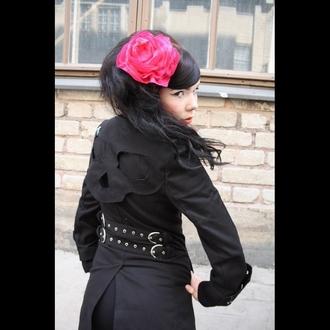 coat women's POIZEN INDUSTRIES - Hitchhicker - Black