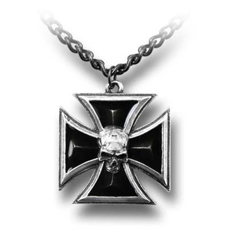 necklace Black Knight's Cross ALCHEMY GOTHIC - P617