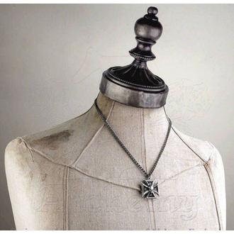 necklace Black Knight's Cross ALCHEMY GOTHIC - P617