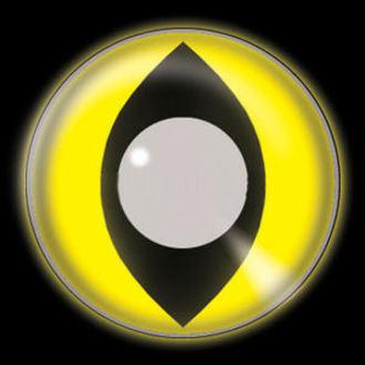 set contact lenses Glow Yellow Cat UV a disinfecting set - EDIT, EDIT