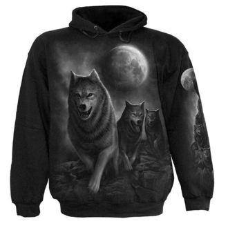hoodie men's - Wolf Pack Wrap - SPIRAL, SPIRAL